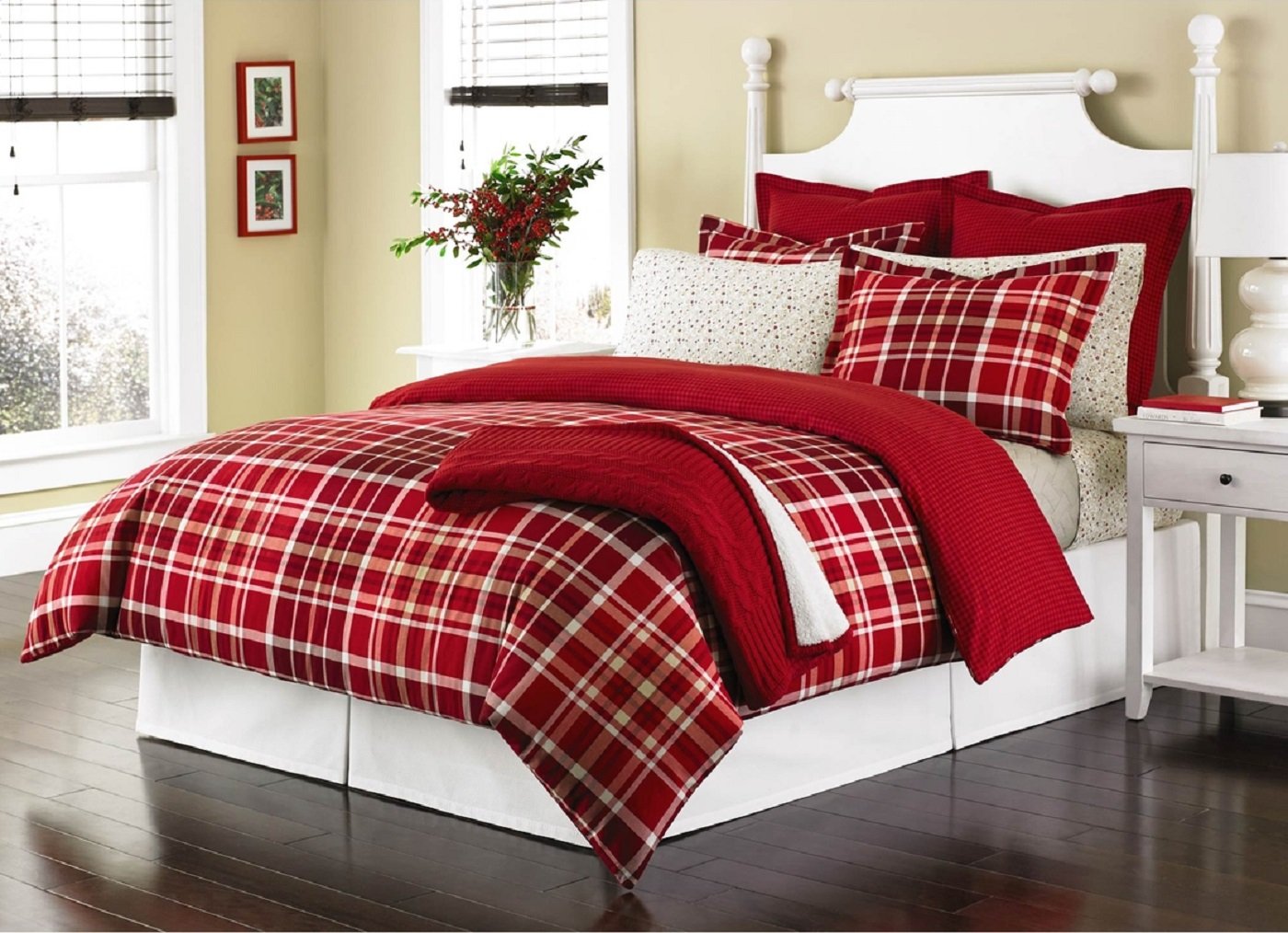 Martha Stewart Winter Tartan Queen Duvet Cover SOC 1060