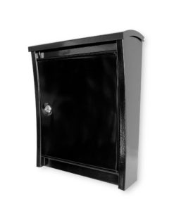 Metropolitan Black Steel Wall Mount Mailbox SOC 1016