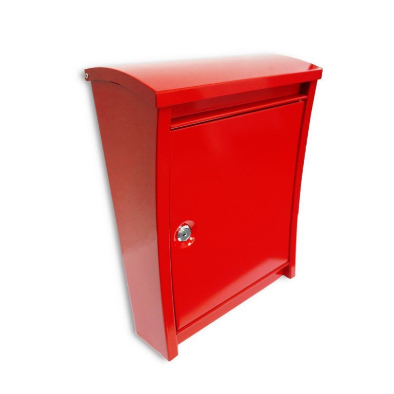 Metropolitan Red Steel Wall Mount Mailbox SOC 1015