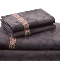 Natori Fretwork Dragon Queen Fitted Sheet SOC 1007