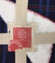 Navy Faux Sherpa Throw