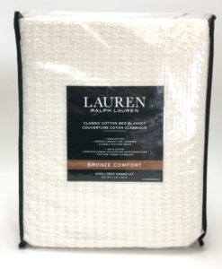 Ralph Lauren Ivory King Blanket