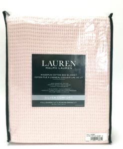 Ralph Lauren Ringspun Blush Cotton Blanket