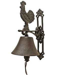 Rooster Cast Iron Doorbell SOC 1122