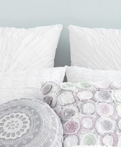 Sky Circlet White Euro Sham Set