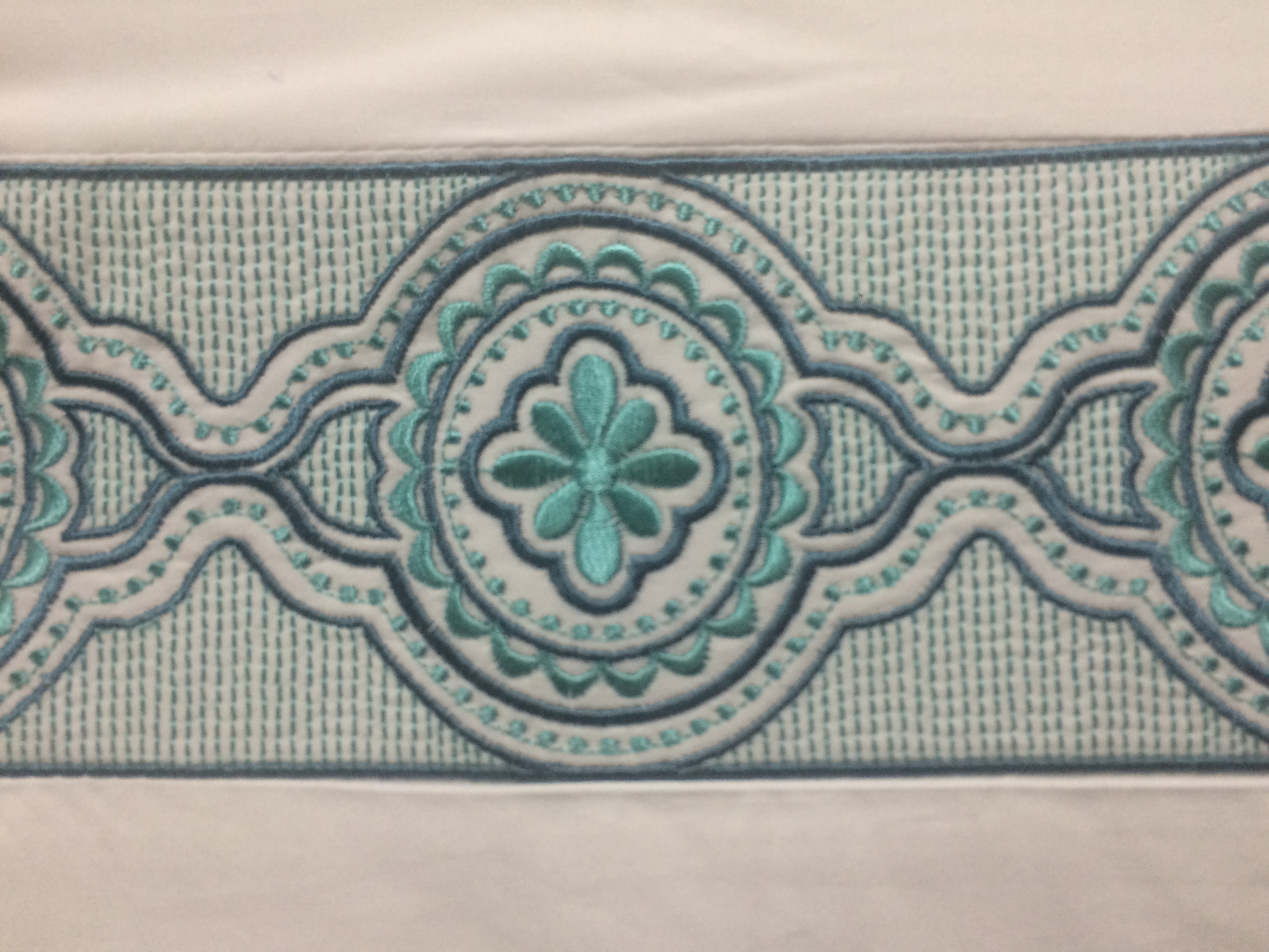 Sky Embroidered Frame Turquoise Detail