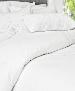 The White Collection Contessa Queen Duvet Cover SOC 738