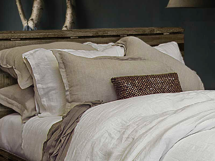 The White Collection Morgan Bleached White Standard Sham
