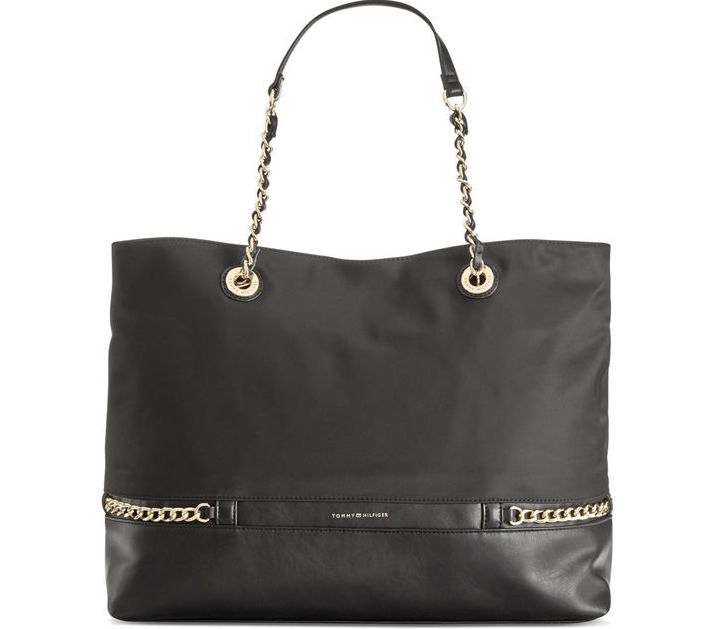 Tommy Hilfiger Cassidy Chain Link Tote Shop Outlet Canada