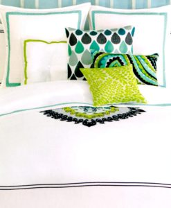 Trina Turk Palm Springs Turquoise King 400 TC Sheet Set SOC 556