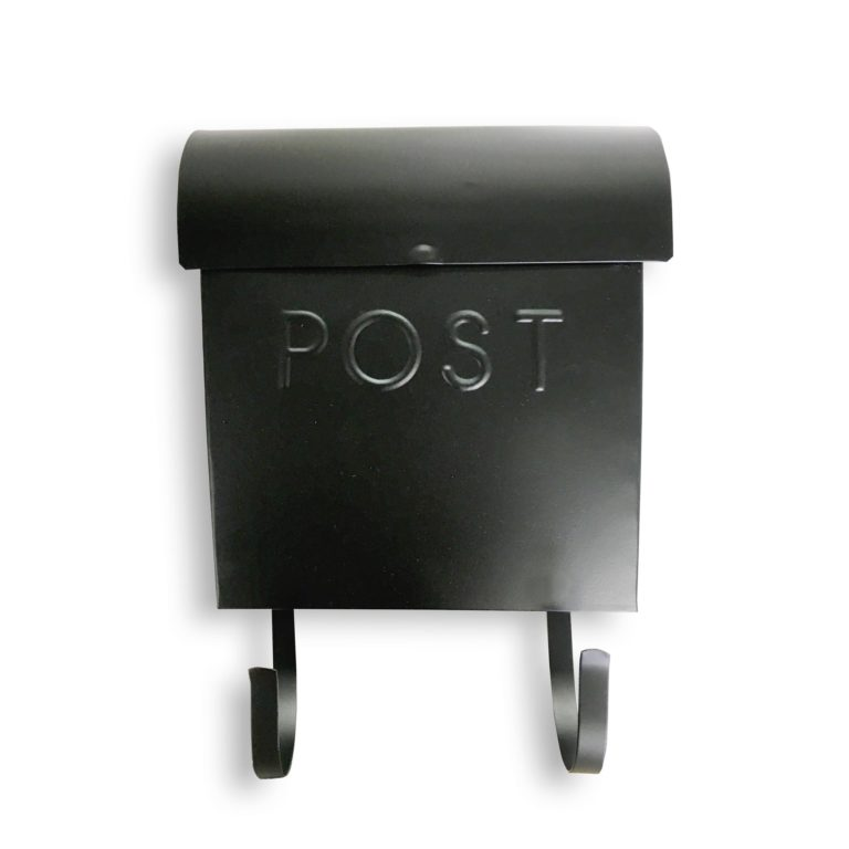 Wall Mount Black Mailbox SOC 960