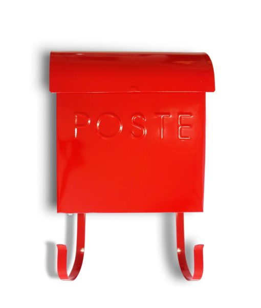 Wall Mount Red French Mailbox SOC 1115
