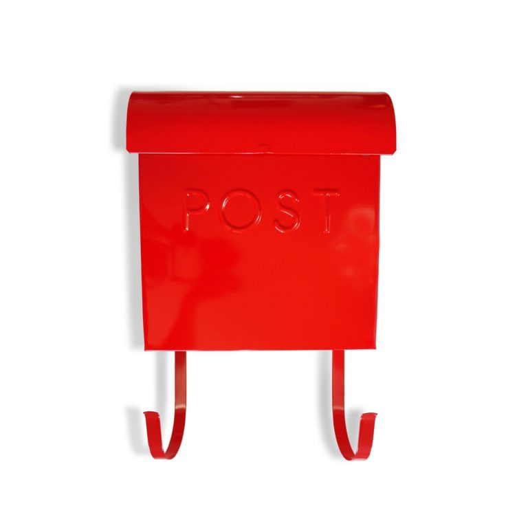 Wall Mount Red Mailbox SOC 1115
