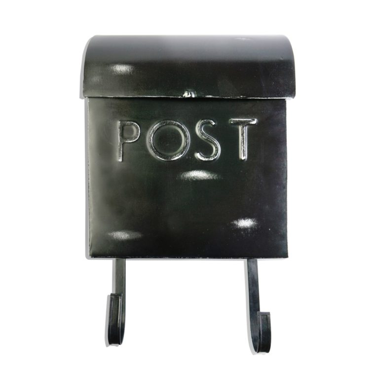 Wall Mount Rustic Black Mailbox SOC 962
