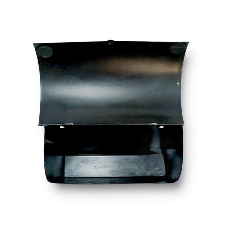 Wall Mount Rustic Black Top Open View