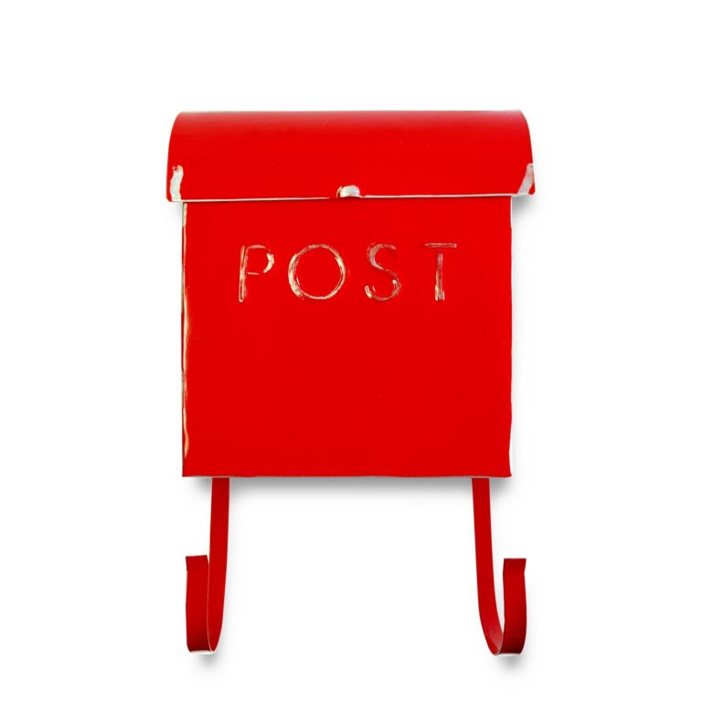 Wall Mount Rustic Red Mailbox SOC 963