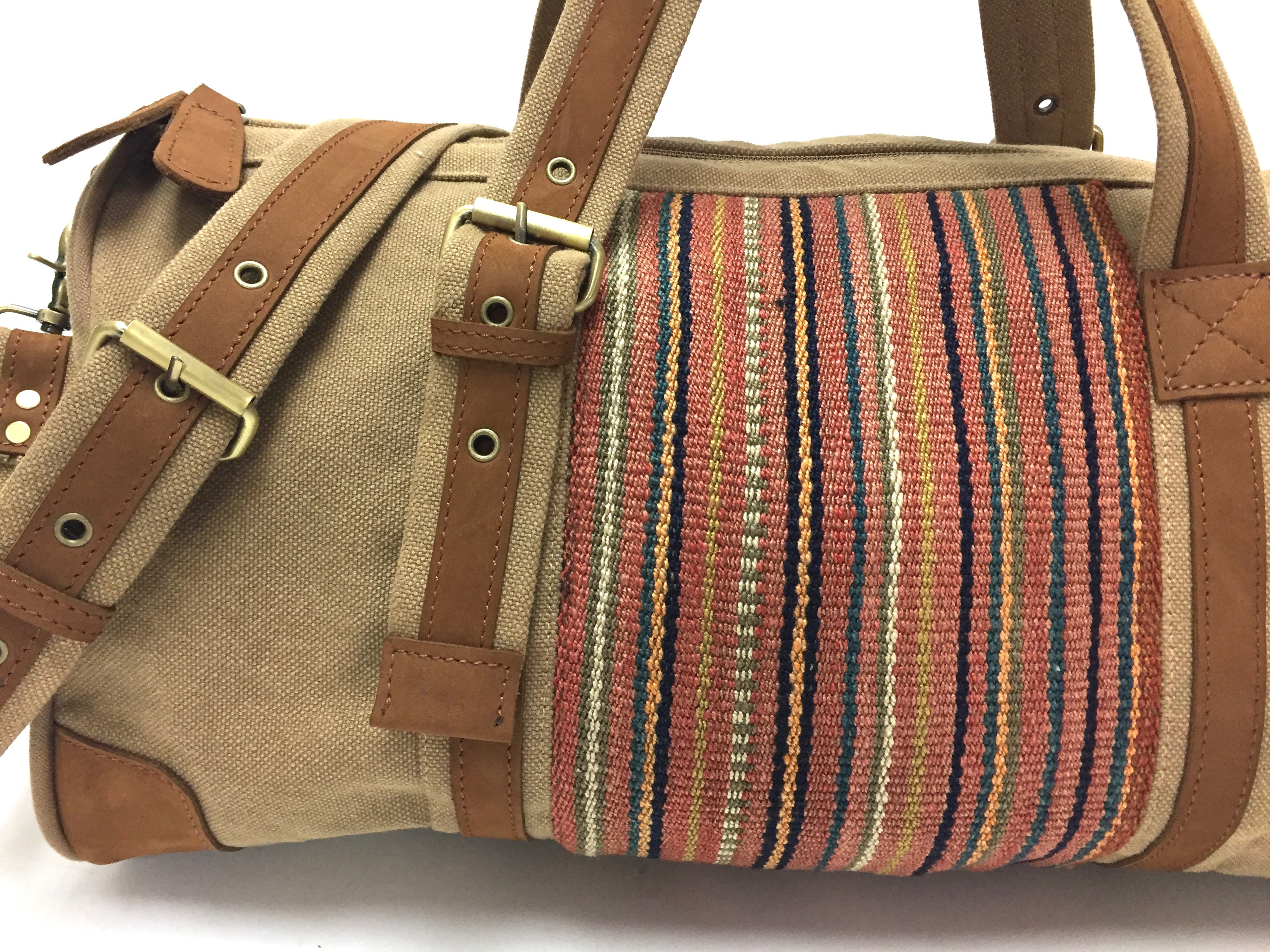 Weekender Coffee Kilim Detail