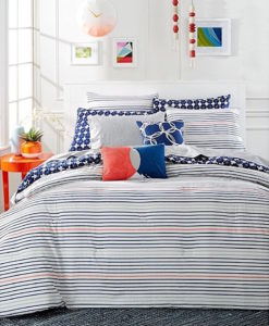 Whim By Martha Stewart Between The Lines Queen Comforter SOC 1250