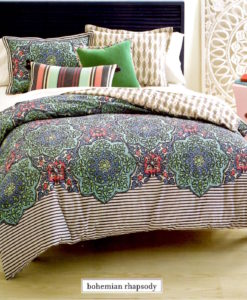 Whim By Martha Stewart Bohemian Rhapsody Queen Comforter Set SOC 1131