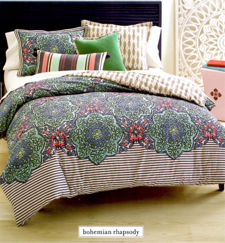 Whim By Martha Stewart Bohemian Rhapsody Queen Duvet Set SOC 1247