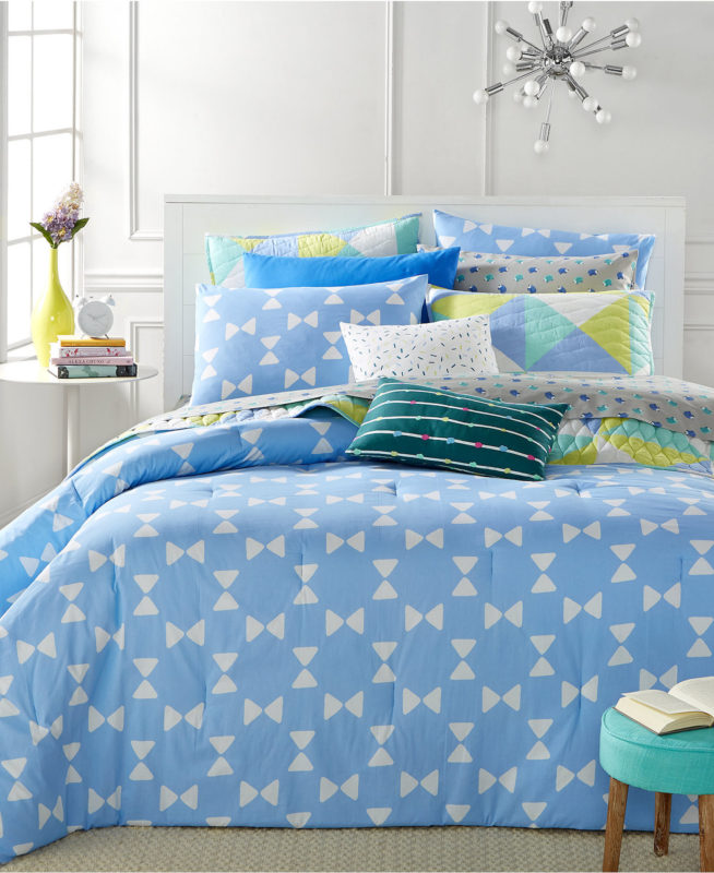 Whim By Martha Stewart Bow Tie Twin XL Comforter Set SOC 1086