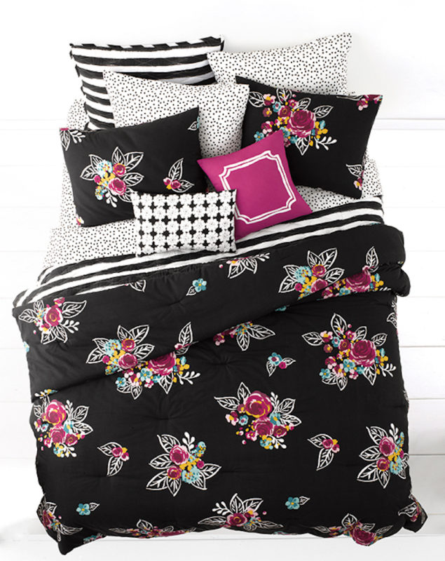 Whim By Martha Stewart Night Blooms Queen Comforter Set SOC 1248