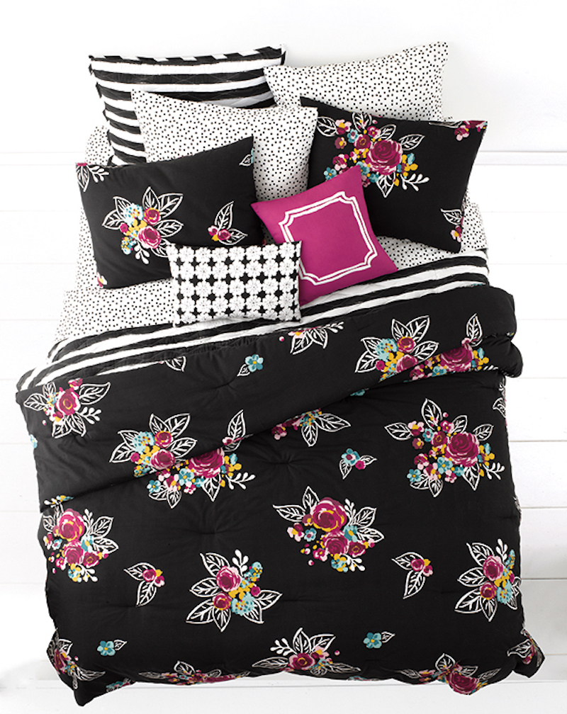 Whim By Martha Stewart Night Blooms Twin XL Comforter Set SOC 1140