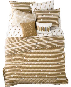 Whim By Martha Stewart Straight Arrow Queen Quilt Set SOC 1152