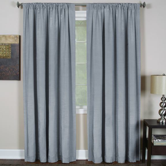 Elrene Cachet 3-in-1 Window Treatment Collection Blue 95″L SOC 131