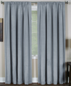 "Elrene Cachet 3-in-1 Window Treatment Collection Silver 108""L SOC 130"