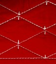 Martha Stewart Solid Diamond Red/Taupe detail