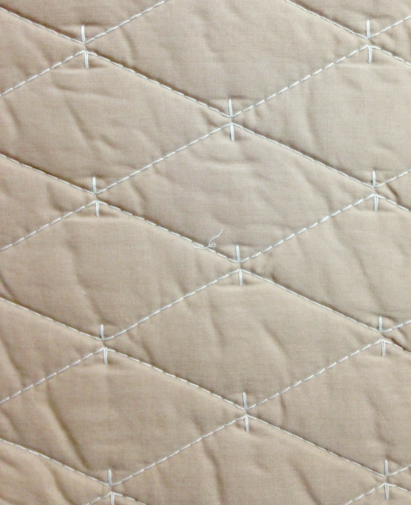 Martha Stewart Solid Diamond Khaki/Ivory King Quilt detail
